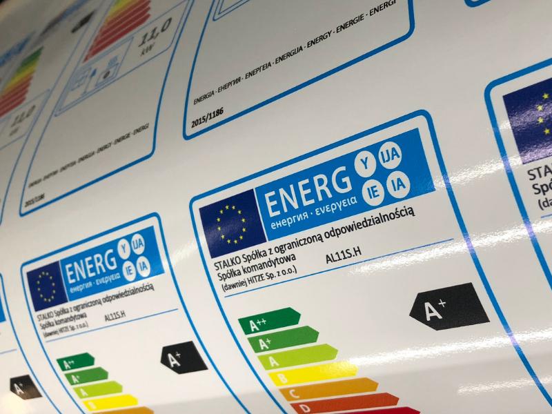 druk etykiet energetycznych